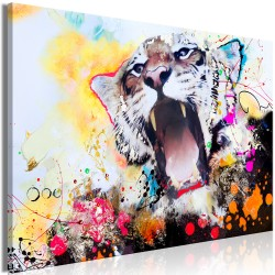Canvas Print  Tigers Roar (1 Part) Wide