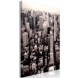 Canvas Print  Manhattan In Sepia (1 Part) Vertical