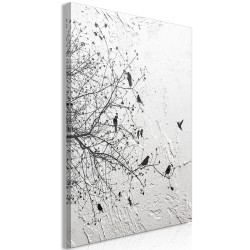 Canvas Print  Birds on Tree (1 Part) Vertical