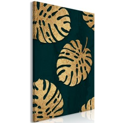 Canvas Print  Leaves of Luxury (1 Part) Vertical