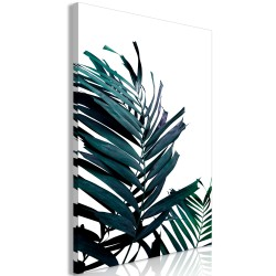 Canvas Print  Emerald Leaves (1 Part) Wide