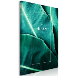 Canvas Print  Be Nice (1 Part) Vertical