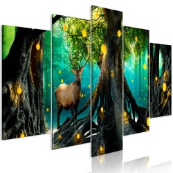 Canvas Print  Enchanted Forest (5 Parts) Wide