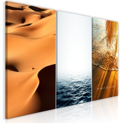 Canvas Print  Sand and Water (3 Parts)