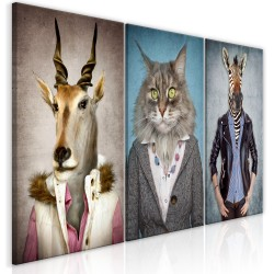 Canvas Print  Menagerie (3 Parts)