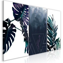 Canvas Print  Cool Leaves (3 Parts)