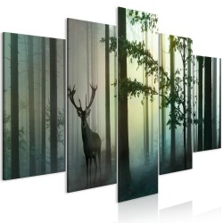 Canvas Print  Morning (5 Parts) Wide Green