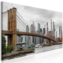 Canvas Print  Road to Manhattan (1 Part) Narrow Colourful