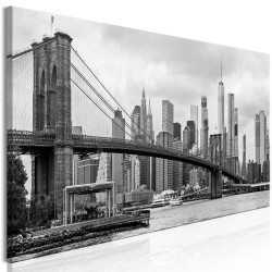 Canvas Print  Road to Manhattan (1 Part) Narrow Black and White