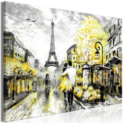 Canvas Print  Colourful RendezVous (1 Part) Wide Yellow