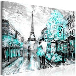 Canvas Print  Colourful RendezVous (1 Part) Wide Turquoise