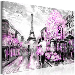 Canvas Print  Colourful RendezVous (1 Part) Wide Pink