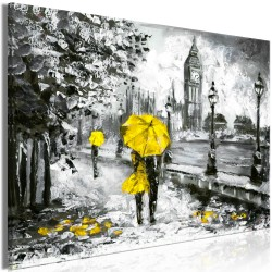 Canvas Print  Walk in London (1 Part) Wide Yellow