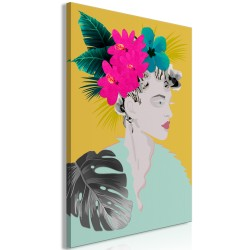 Canvas Print  Flowers In The Hair (1 Part) Vertical