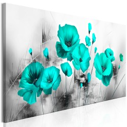 Canvas Print  Turquoise Meadow (1 Part) Narrow