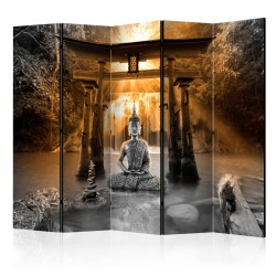 Room Divider  Buddha Smile (Orange) II [Room Dividers]