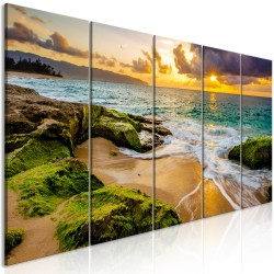 Canvas Print  Turquoise Sea (5 Parts) Narrow