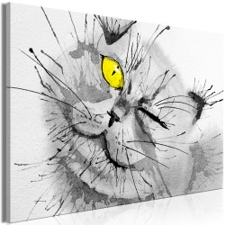Canvas Print  Happy Look (1 Part) Wide Yellow