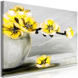 Canvas Print  Lightness of Light (1 Part) Wide Yellow