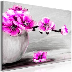 Canvas Print  Lightness of Light (1 Part) Wide Pink