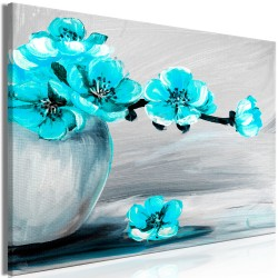 Canvas Print  Lightness of Light (1 Part) Wide Blue