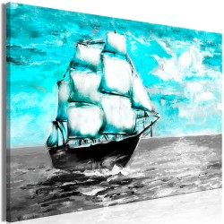 Canvas Print  Spring Cruise (1 Part) Wide Blue