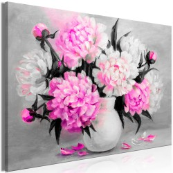 Canvas Print  Fragrant Colours (1 Part) Wide Pink