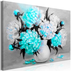 Canvas Print  Fragrant Colours (1 Part) Wide Blue
