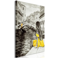 Canvas Print  Far Dreams (1 Part) Vertical Yellow