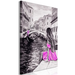Canvas Print  Far Dreams (1 Part) Vertical Pink