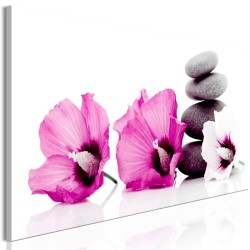 Canvas Print  Calm Mallow (1 Part) Narrow Pink
