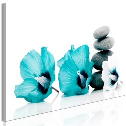 Canvas Print  Calm Mallow (1 Part) Narrow Turquoise