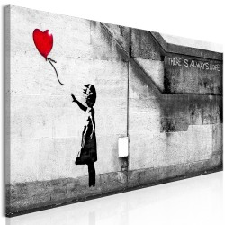Canvas Print  There is Always Hope (1 Part) Narrow Red