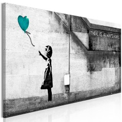 Canvas Print  There is Always Hope (1 Part) Narrow Turquoise