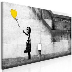Canvas Print  There is Always Hope (1 Part) Narrow Yellow