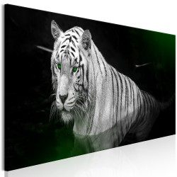 Canvas Print  Shining Tiger (1 Part) Green Narrow