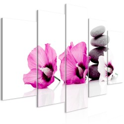 Canvas Print  Calm Mallow (5 Parts) Wide Pink