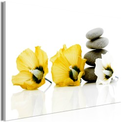 Canvas Print  Calm Mallow (1 Part) Wide Yellow