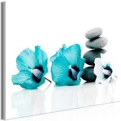 Canvas Print  Calm Mallow (1 Part) Wide Turquoise