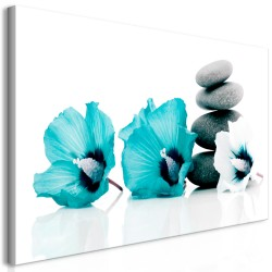 Canvas Print  Calm Mallow (1 Part) Turquoise