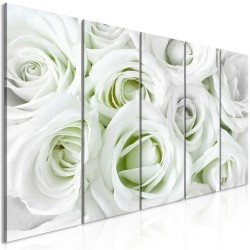 Canvas Print  Satin Rose (5 Parts) Narrow Green