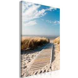 Canvas Print  Lonely Beach (1 Part) Vertical