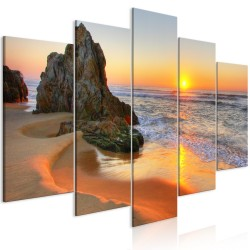 Canvas Print  Meeting at Sunset (5 Parts) Wide