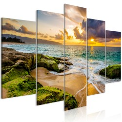 Canvas Print  Turquoise Sea (5 Parts) Wide