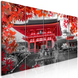 Canvas Print  Kyoto, Japan (5 Parts) Narrow