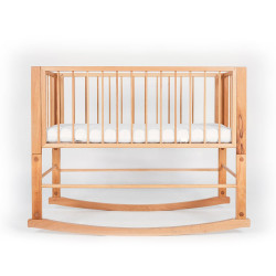 Cradle front-back direction. Solid beech wood