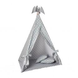 Tepee Tent Light Grey with Stars