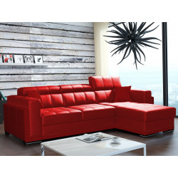 Corner sofa bed Bari 1 with storage and sleeping function, faux leather, 272cm 8'11''
