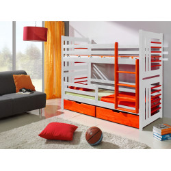 Wooden bunk bed Rolo M with mattresses and 2 drawers - FAST DELIVERY
