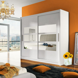Modern Wardrobe Agnes 3 with sliding doors and mirror (180cm)